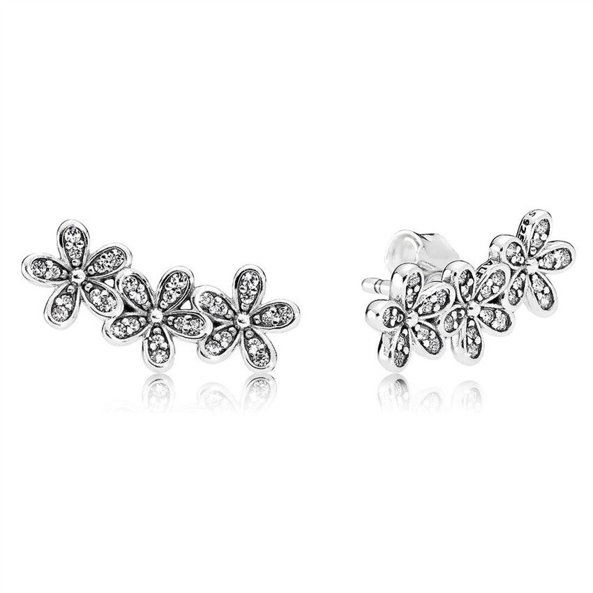 Pandora Dazzling Daisies Stud Earrings, Clear CZ 290744CZ