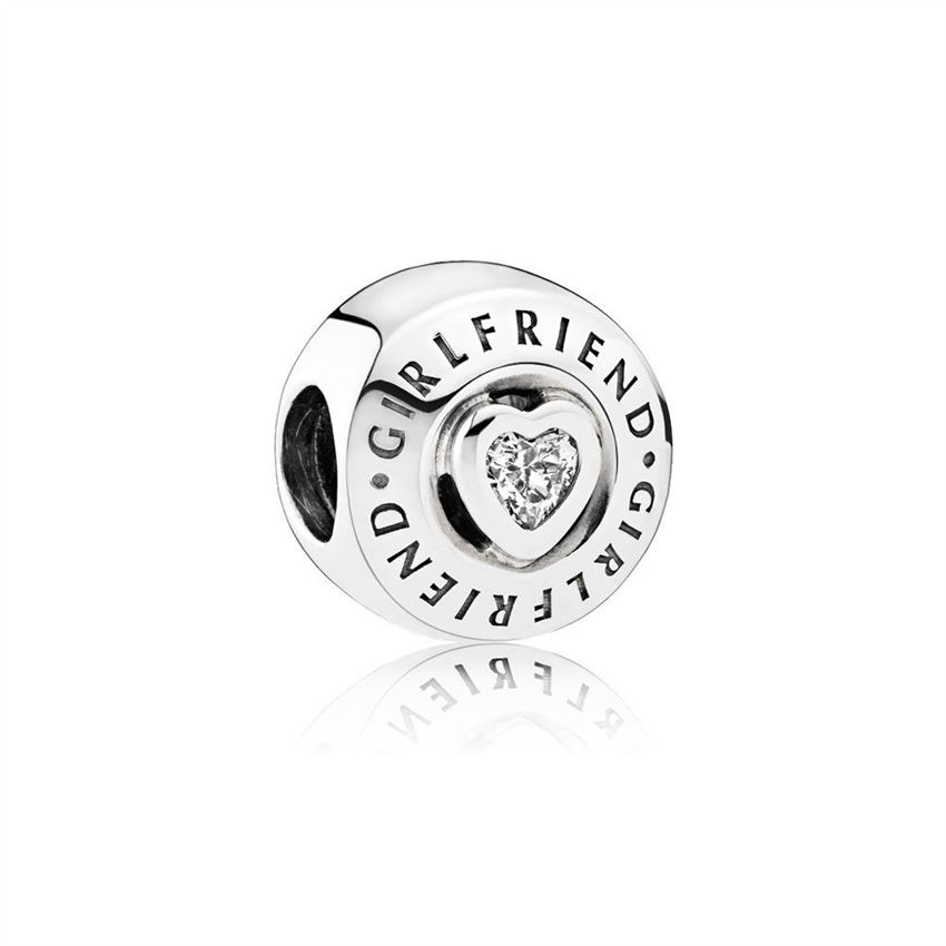 Pandora Girlfriend Charm, Clear CZ 792145CZ