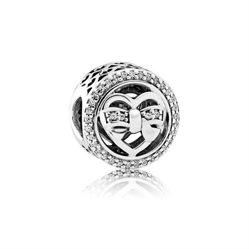 Pandora Loving Ties Charm, Clear CZ 792146CZ