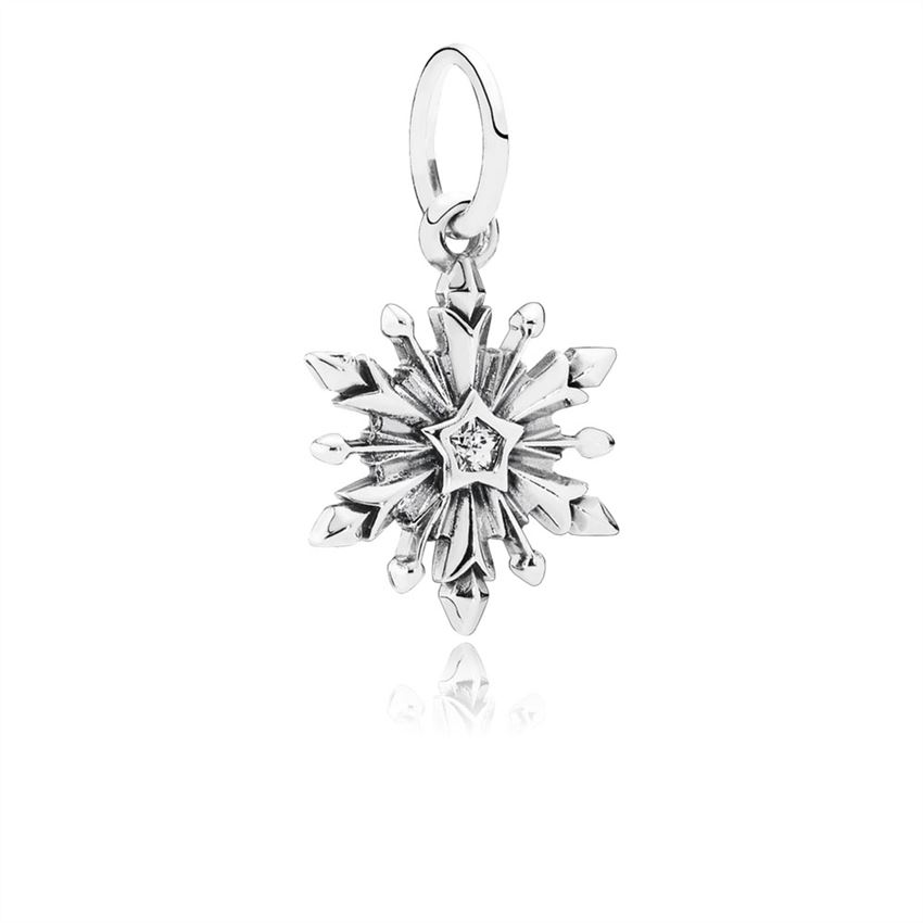 Pandora Disney, Frozen Snowflake Dangle Charm, Clear CZ 791564CZ