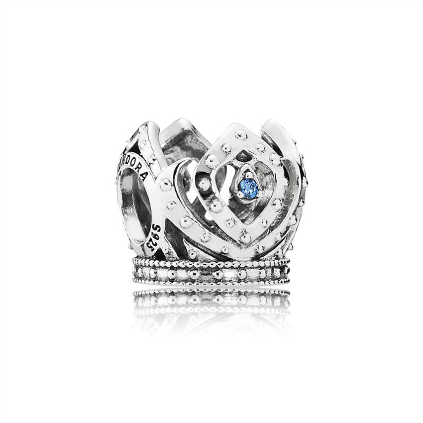 Pandora Disney, Elsa's Crown Charm, Blue CZ 791588CZB