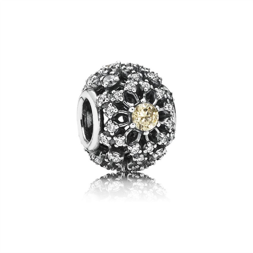 Pandora Inner Radiance, Golden-Colored & Clear CZ 791370CCZ