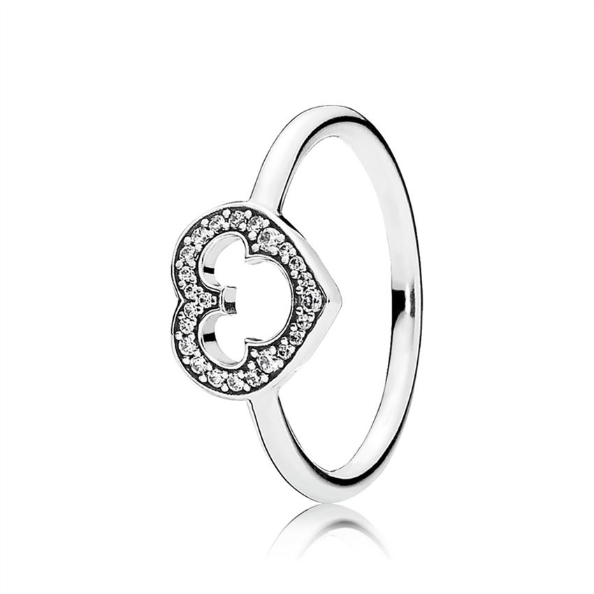Pandora Disney, Mickey Silhouette Ring, Clear CZ 190957CZ
