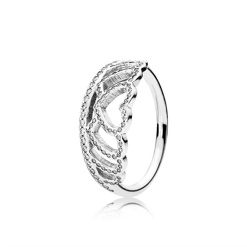 Pandora Hearts Tiara Ring, Clear CZ 190958CZ