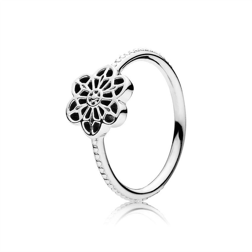 Pandora Floral Daisy Lace Ring 190992
