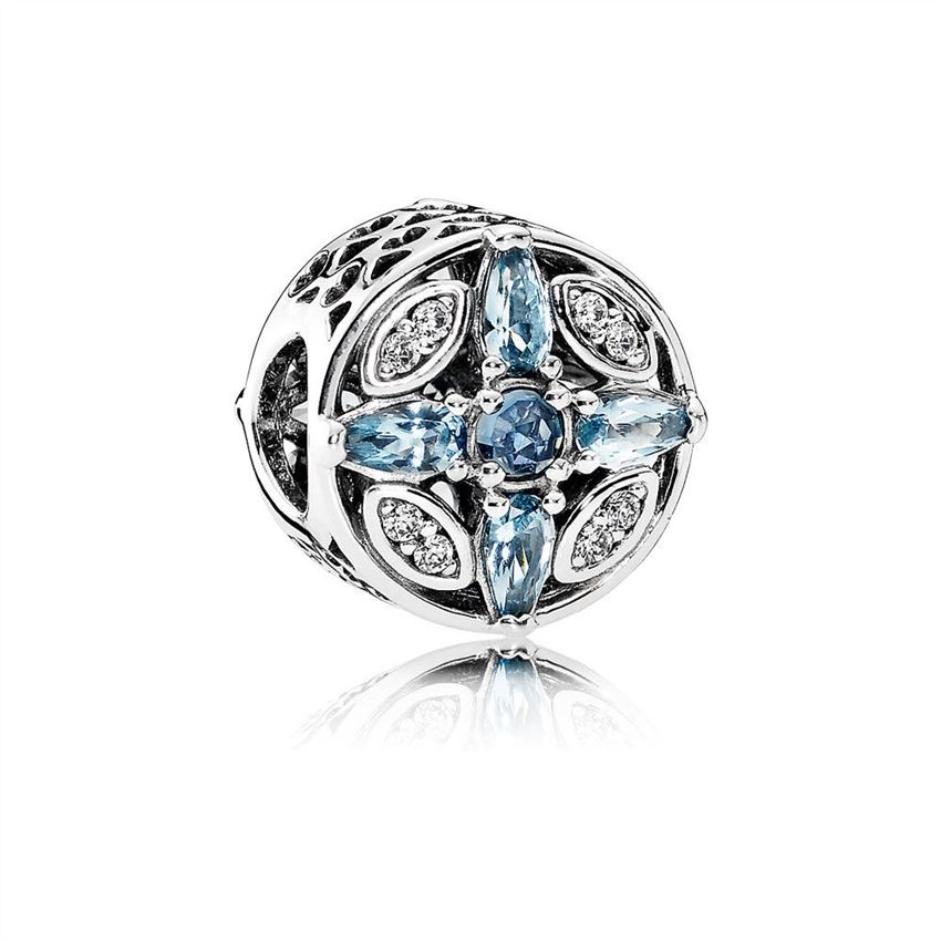 Pandora Patterns of Frost Charm, Multi-Colored Crystal & Clear CZ 791995NMBMX